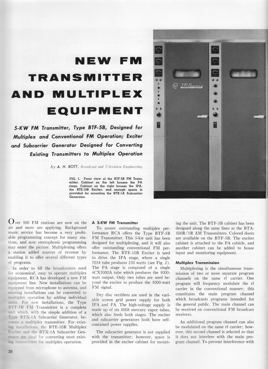 RCA BTE-10B Direct FM Exciter, page 1