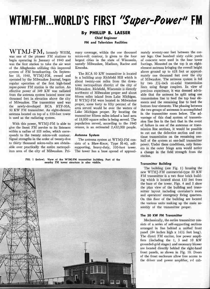 WTMJ-FM...World's First